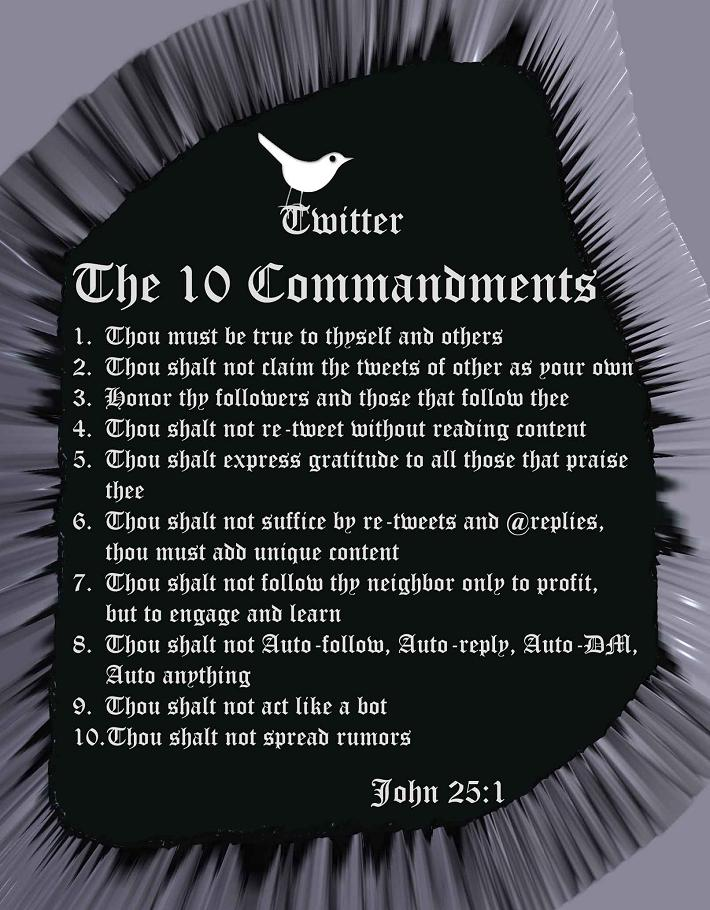 Twitter 10 Commandments