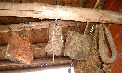 Hanging bacon