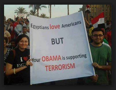 Egypt Loves America But Your Obama Supports Terrorism