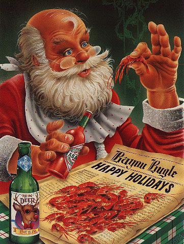 Santa eating deer