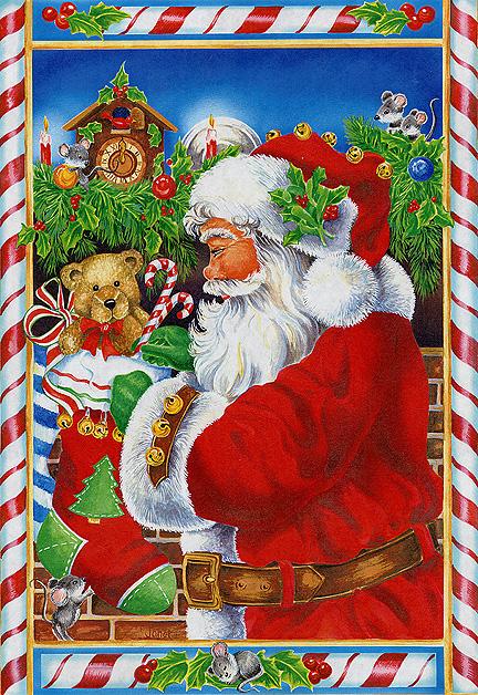 Santa and a Teddy Bear